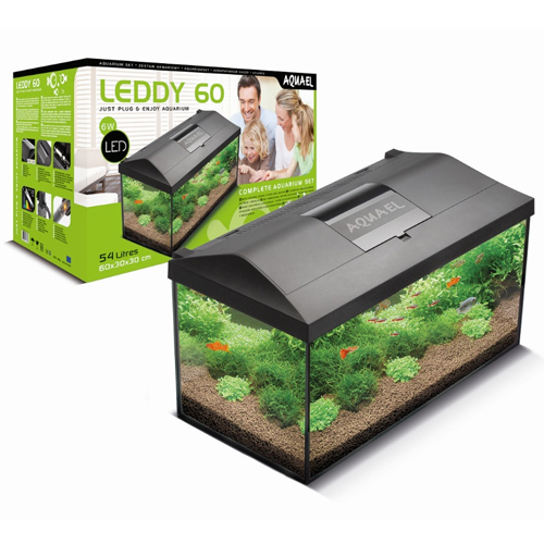 AQUAEL ACUARIO COMPLETO LEDDY PLUS NEGRO DAY&NIGHT